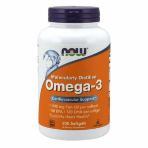 Now Foods Omega-3 Fish Oil-200 Softgels